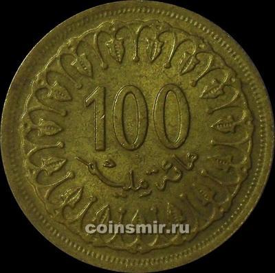 100 миллим 1960 Тунис.