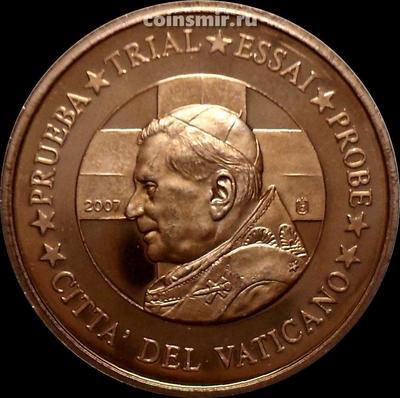 5 евроцентов 2007 Ватикан. Портрет. Европроба. Specimen.