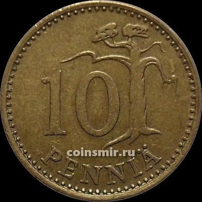 10 пенни 1975 S Финляндия.