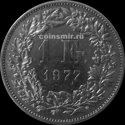 1 франк 1977 Швейцария.
