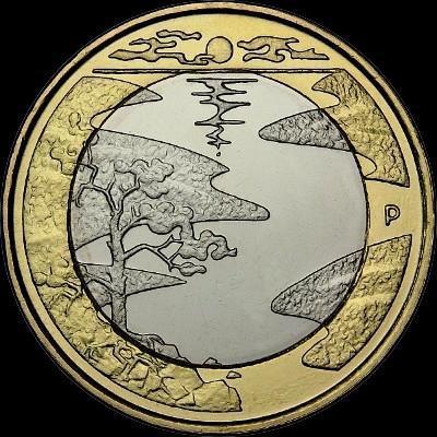 5 евро 2013 Финляндия. Северная природа.