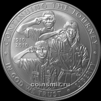 1 доллар 2010 Р США. 100 лет скаутскому движению.