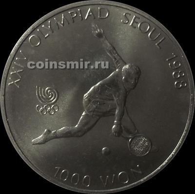 1000 вон 1987 Южная Корея. Олимпиада в Сеуле 1988. Теннис.