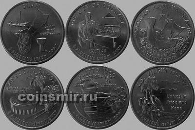 Набор квотеров (25 центов) 2009 D Территории США.