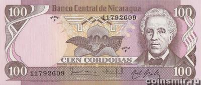 100 кордоб 1984 (1985) Никарагуа.