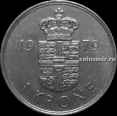 1 крона 1979 В;В Дания.