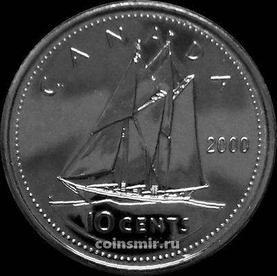 10 центов 2000 Канада.