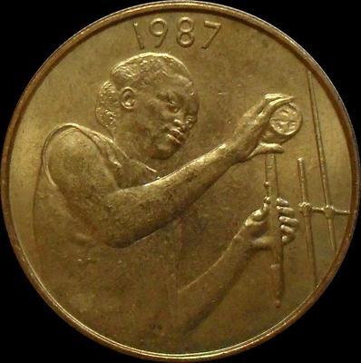 25 франков 1987  КФА BCEAO (Западная Африка). ФАО.