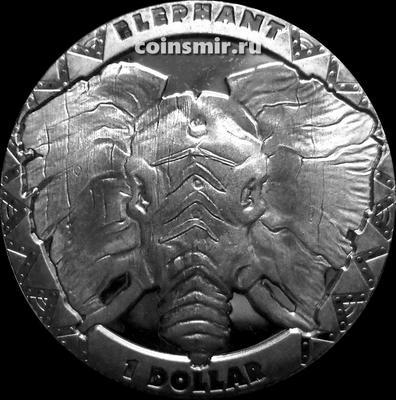 1 доллар 2019 Сьерра Леоне. Слон.