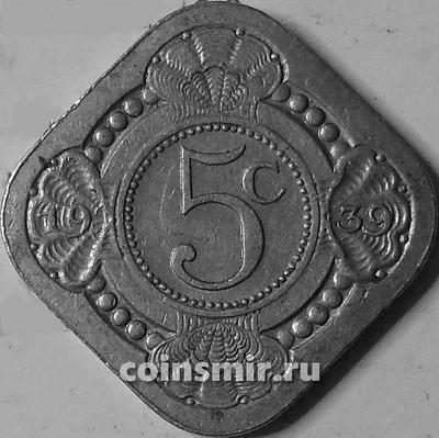 5 центов 1939 Нидерланды.