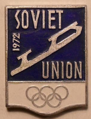 Значок Фигурное катание. Олимпиада в Саппоро 1972.
