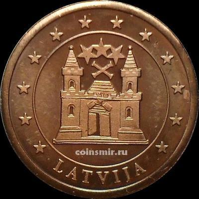 2 евроцента Латвия. Без даты. Европроба. Specimen.