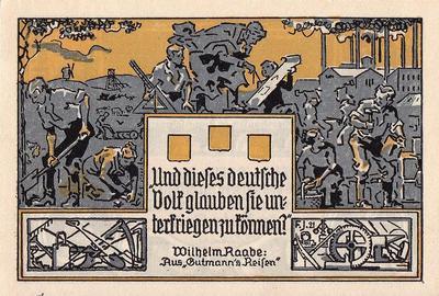 2 марки 1921 Германия. г. Эшерсхаузен (Нижняя Саксония). Нотгельд.
