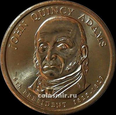 1 доллар 2008 D США. 6-й президент США Джон Квинси Адамс.