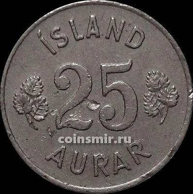 25 эйре 1951 Исландия. Состояние на фото.