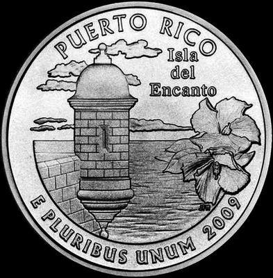 25 центов 2009 Р США. Пуэрто Рико.