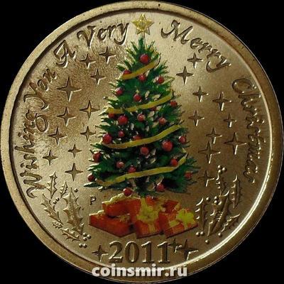 1 доллар 2011 Австралия. Рождество.