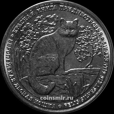 1 рубль 2020 Приднестровье. Лесная кошка.