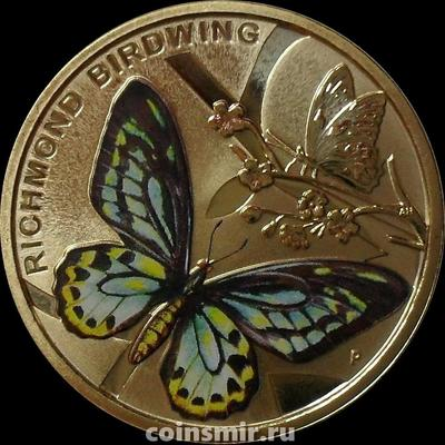 1 доллар 2016 Австралия. Бабочка Ричмонда.