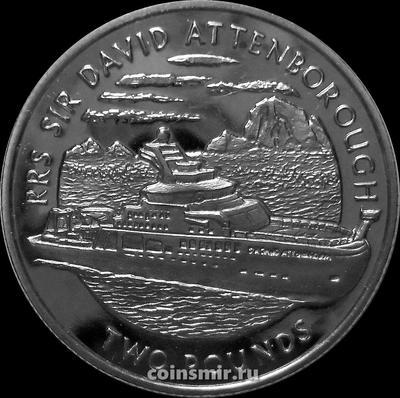 2 фунта 2019 Британская Антарктическая территория. Корабль RRS Сэр Дэвид Аттенборо.