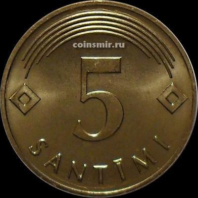 5 сантимов 2007 Латвия.