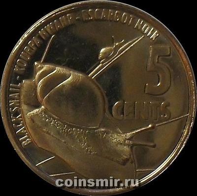 5 центов 2016 Сейшельские острова. Улитка.