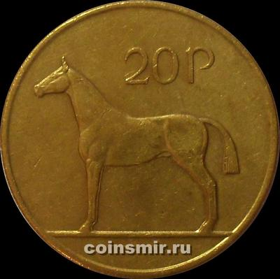 20 пенсов 1992 Ирландия. Лошадь.