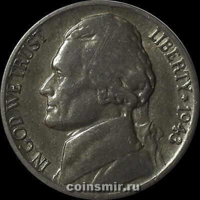 5 центов 1943 P США.