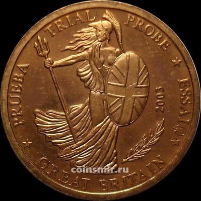 2 евроцента 2003 Великобритания. Европроба. Specimen.
