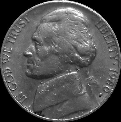 5 центов 1980 Р США. Томас Джефферсон.