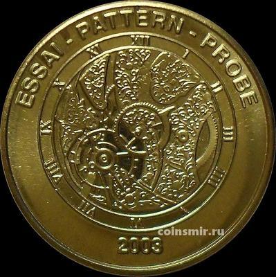 50 евроцентов 2003 Швейцария. Часы. Европроба. Ceros.