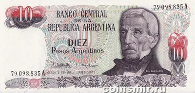 10 песо 1983-84 Аргентина.