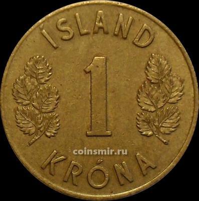 1 крона 1965 Исландия.