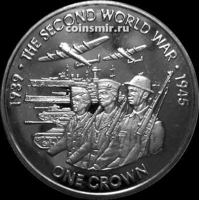 1 крона 2019 остров Вознесения. Вторая Мировая война. 1939-1945.