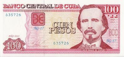 100 песо 2013 Куба.