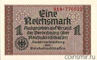 1 марка 1940-1945 Германия. Третий Рейх. Оккупированные территории.