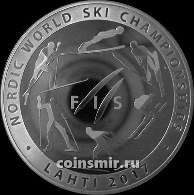 1 рубль 2017 Беларусь. Чемпионат мира по лыжным видам спорта 2017 года. Лахти.