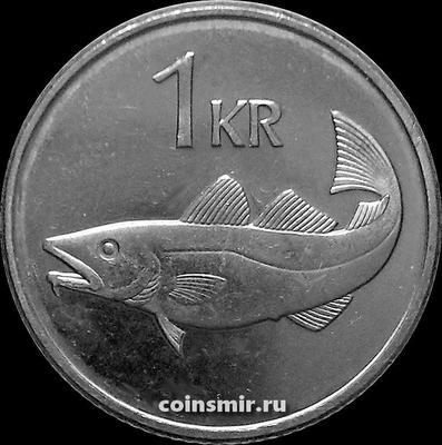 1 крона 1999 Исландия. Треска.
