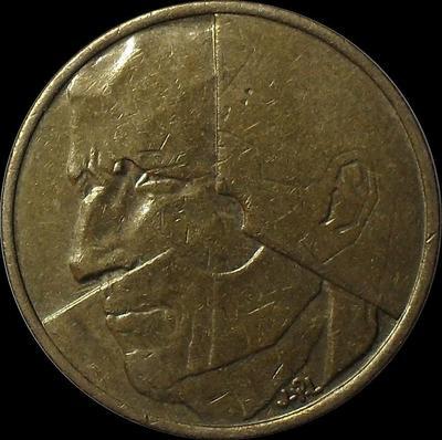 5 франков 1986 Бельгия. BELGIE.