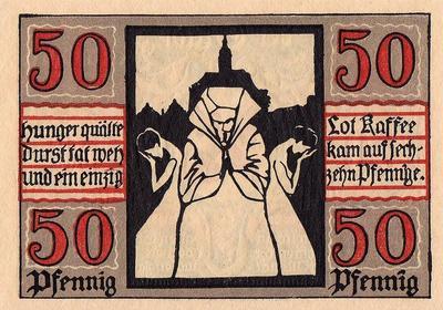 50 пфеннигов 1920 Германия г.Наумбург (Саксония-Анхальт). Нотгельд.