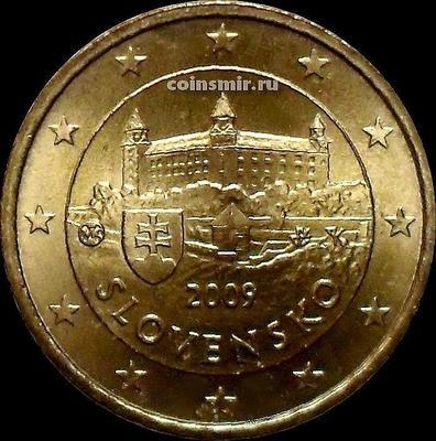 10 евроцентов 2009 Словакия. Замок Братиславский Град.