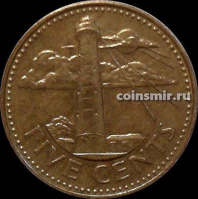 5 центов 2002 Барбадос. Маяк.