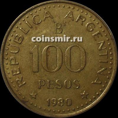 100 песо 1980 Аргентина.