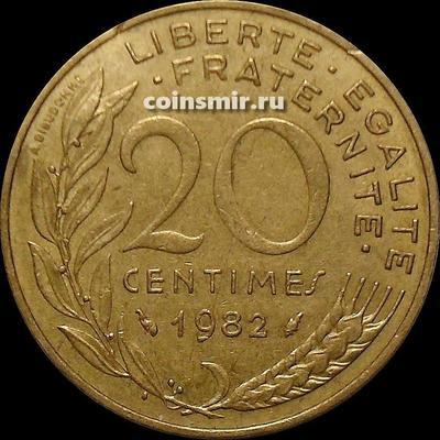 20 сантимов 1982 Франция.