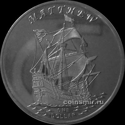1 доллар 2015 острова Гилберта. Мэттью.