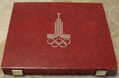 Коробка на 28 монет Олимпиада-80 СССР 1977-1980.