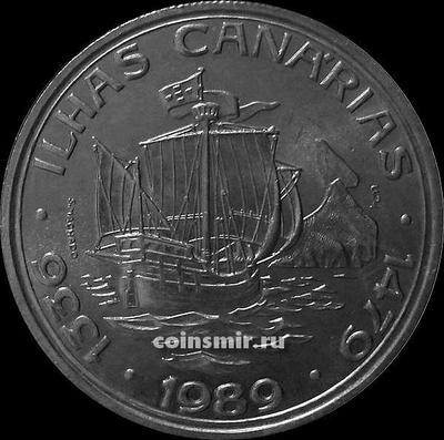 100 эскудо 1989 Португалия. Канарские острова.
