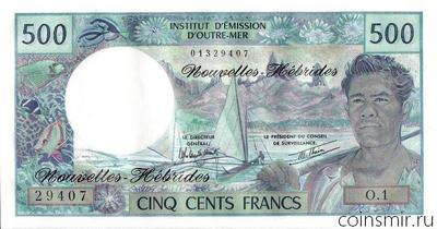 500 франков 1970-1981 Новые Гебриды.