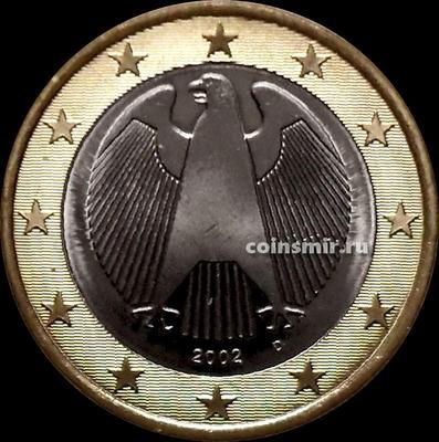 1 евро 2002 D Германия. Орёл. UNC