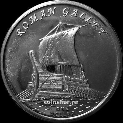 1 доллар 2019 острова Гилберта. ROMAN GALLEY.